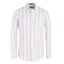 Buy Gant Multi Stripe Oxford Shirt, White/Multi Online at johnlewis.com