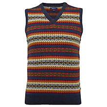 Buy Gant Lambswool Fairisle Print Lambswool Vest, Multi Online at johnlewis.com