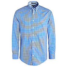 Buy Gant Poplin Gingham Shirt, Royal Online at johnlewis.com