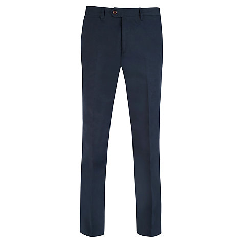 Buy Ted Baker Statro Linen Blend Trousers, Navy Online at johnlewis.com