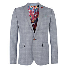 Buy Ted Baker Eower Linen Blend Check Jacket, Navy Online at johnlewis.com