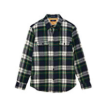 Buy Gant Caroga Twill Cotton Tartan Shirt, Blue Online at johnlewis.com