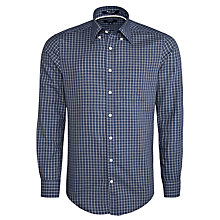 Buy Gant Windham Twill Grid Check Long Sleeve Shirt, Dark Indigo Online at johnlewis.com