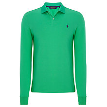 Buy Polo Golf by Ralph Lauren Mesh Pro Long Sleeve Polo Shirt, Mayan Green Online at johnlewis.com