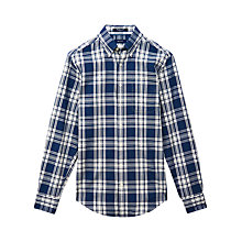 Buy Gant Windham Solid Check Twill Shirt, Dark Indigo Online at johnlewis.com