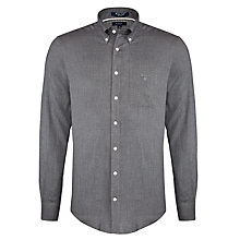 Buy Gant Windham Twill Long Sleeve Shirt, Dark Grey Melange Online at johnlewis.com