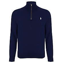 Buy Polo Golf by Ralph Lauren Merino Zip Neck Jumper Online at johnlewis.com