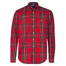 Buy Gant High Mount Tartan Oxford Shirt, Red Online at johnlewis.com