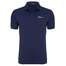 Buy Ralph Lauren RLX Golf Short Sleeve Polo Shirt, French Navy Online at johnlewis.com