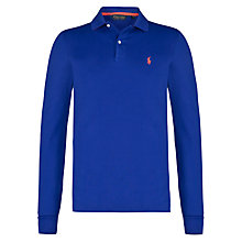 Buy Polo Golf by Ralph Lauren Mesh Pro Polo Shirt, Foster Blue Online at johnlewis.com