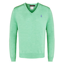 Buy Polo Golf by Ralph Lauren Wool V-Neck Jumper Online at johnlewis.com