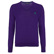 Buy Polo Golf by Ralph Lauren V-Neck Knitted Jumper Online at johnlewis.com