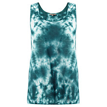 Buy Jigsaw Tie Dye Linen Tank Top, Deep Green Online at johnlewis.com