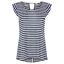 Buy Oasis Stripe Tail Back T-Shirt, Multi Online at johnlewis.com
