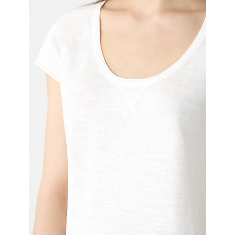 Buy Jigsaw Linen Blend Slub Summer Jumper Online at johnlewis.com