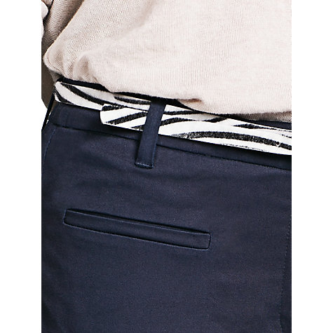 Buy Mango Straight Fit Cotton Trousers Online at johnlewis.com