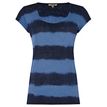 Buy Jigsaw Tie Dye Stripe Linen T-Shirt Online at johnlewis.com