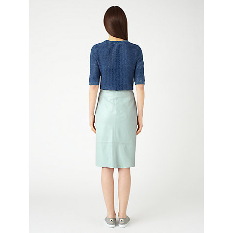Buy Jigsaw Leather Pencil Skirt Online at johnlewis.com