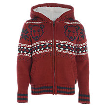 Buy Animal Boys' Wheelblast Knitted Zip Hoodie Online at johnlewis.com