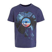 Buy Ben Sherman Boys' Smashed Vinyl Print T-Shirt, Blue Online at johnlewis.com