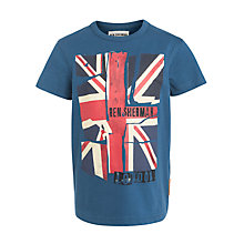 Buy Ben Sherman Boys' Union Jack T-Shirt, Blue Online at johnlewis.com