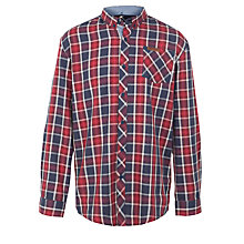 Buy Ben Sherman Boys' Check Cotton Shirt, Blue/Red Online at johnlewis.com