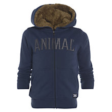 Buy Animal Boys' Sharking Zip-Through Hoodie, Indigo Online at johnlewis.com