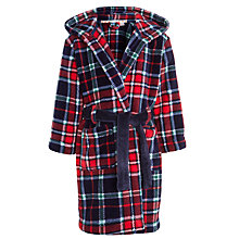Buy John Lewis Boy Tartan Check Robe, Multi Online at johnlewis.com