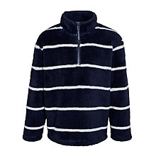 Buy John Lewis Boy Half Zip Shaggy Fleece, Navy/White Online at johnlewis.com