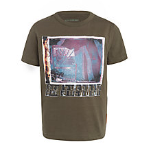 Buy Ben Sherman Boys' Amp T-Shirt, Khaki Online at johnlewis.com