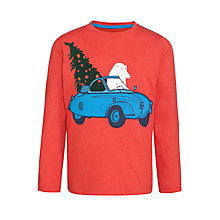 Buy John Lewis Boy Polar Bear in Car Long Sleeve T-Shirt, Red Online at johnlewis.com