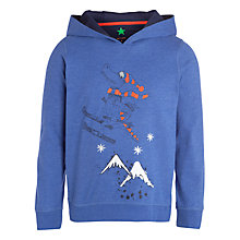 Buy John Lewis Boy Dinosaur Print Hoodie, Blue Online at johnlewis.com