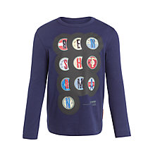 Buy Ben Sherman Boy's Record Long Sleeved T-Shirt, Blue Online at johnlewis.com