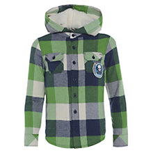 Buy Animal Lotoey Hooded Check Shirt, Indigo/Green Online at johnlewis.com