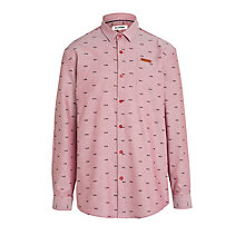 Buy Ben Sherman Boys' Trumpet Long Sleeved Shirt, Red Online at johnlewis.com