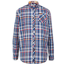 Buy Ben Sherman Boys' Multi Check Long Sleeved Shirt, Blue Online at johnlewis.com