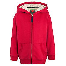 Buy John Lewis Boy Zip Hoody, Red Online at johnlewis.com