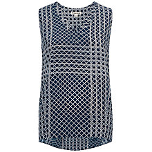 Buy Whistles Veranda Print Top, Blue Online at johnlewis.com