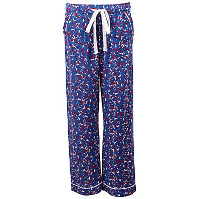 Cyberjammies Michelle Leaf Print Pyjama Pants, Navy