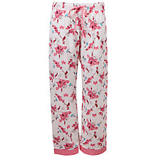 Buy Cyberjammies Helen Floral Print Pyjama Pants, Cream Online at johnlewis.com