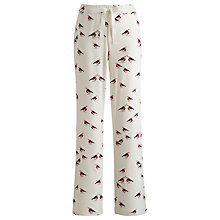 Buy Joules Fleur Robin Print Pyjama Bottoms, Cream Online at johnlewis.com