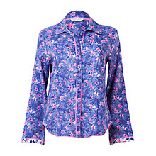 Buy Cyberjammies Betsy Floral Print Pyjama Top, Purple Online at johnlewis.com