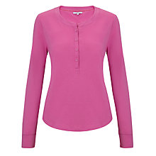 Buy John Lewis Lounge Long Sleeve Top, Rosebud Online at johnlewis.com