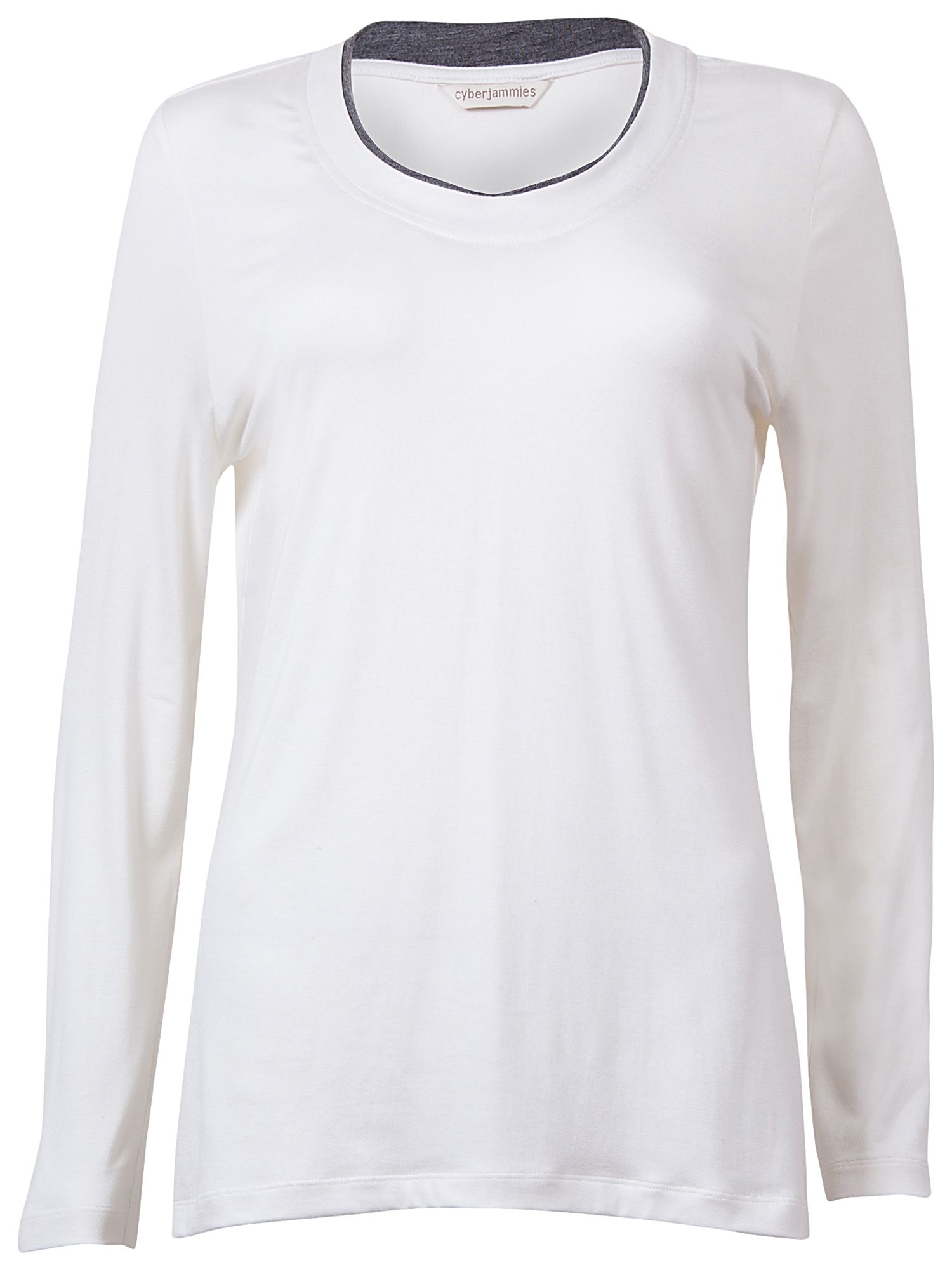 Cyberjammies Long Sleeve Jersey Top, Cream