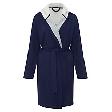 Buy John Lewis Sherpa Robe, Navy Online at johnlewis.com