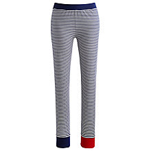 Buy Joules Nita Jersey Stripe Leggings, Navy Online at johnlewis.com