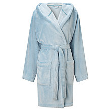 Buy John Lewis Tipped Short Hooded Robe Online at johnlewis.com