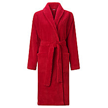Buy John Lewis Waffle Fleece Robe, Red Online at johnlewis.com