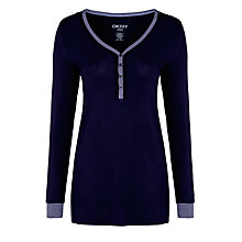 Buy DKNY Before Midnight Pyjama Top, Navy Online at johnlewis.com