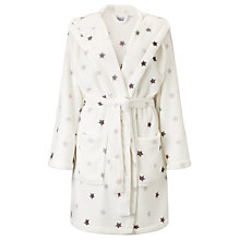Buy John Lewis Star Print Hooded Robe, Ivory Online at johnlewis.com